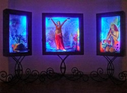 Fear the Future and Hope - Complete Tryptic - UV lights