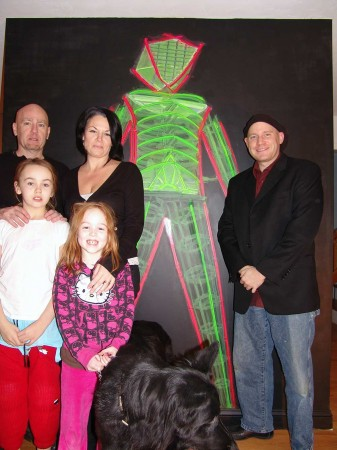 Hannon Family with their New Burningman Mural