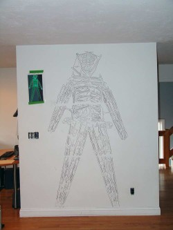 Drawing Transfered to Wall