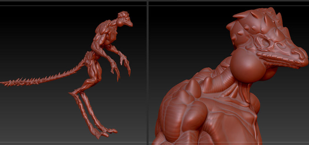 The Iguanoid – My First 3D zBrush Figure
